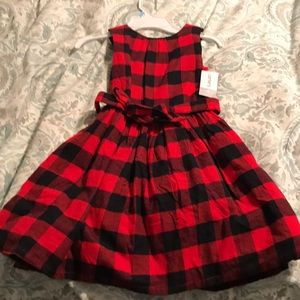 Carter's buffalo check dress